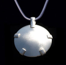 1001-S Level 2: Sterling Silver w/Silver Tabs Satin