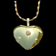 5003 Level 4: Heart - All 14K Gold with Diamond