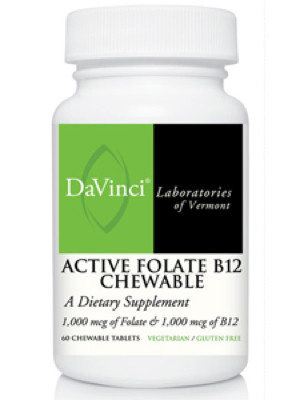 Active Folate B12 60 chewable tablets