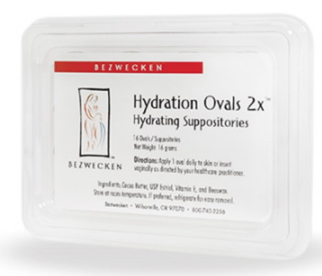 Hydration Ovals 2X 16 suppositories