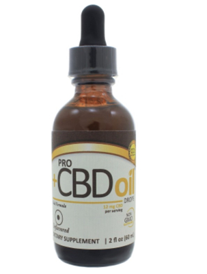 ProCBD Oil 12mg Drops- Unflavored 2 oz