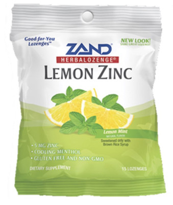 Lemon Zinc Herbalozenge 3 bags of 15 Lozenges