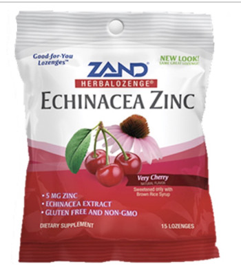 Echinacea Zinc Cherry 3 bags of 15 lozenges