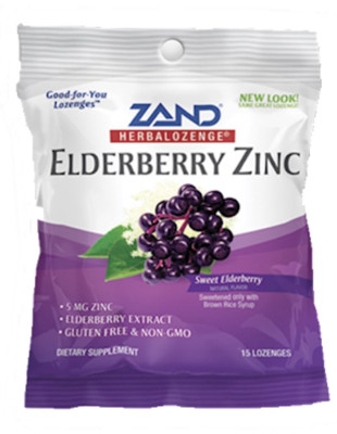 Elderberry Zinc - 3 bags of 15 lozenges