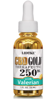 CBD Gold Therapeutic 250mg with Valerian 1 fl oz