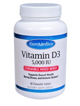 Vitamin D3 5,000 IU Mixed Berry 90 Chews