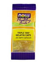 "Triple ""000"" Gelatin Caps 200 Empty Caps"