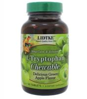L-Tryptophan Chewable Green Apple 60 tabs
