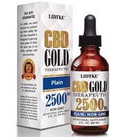 CBD Gold Therapeutic Plain Organic 2500mg 1 oz